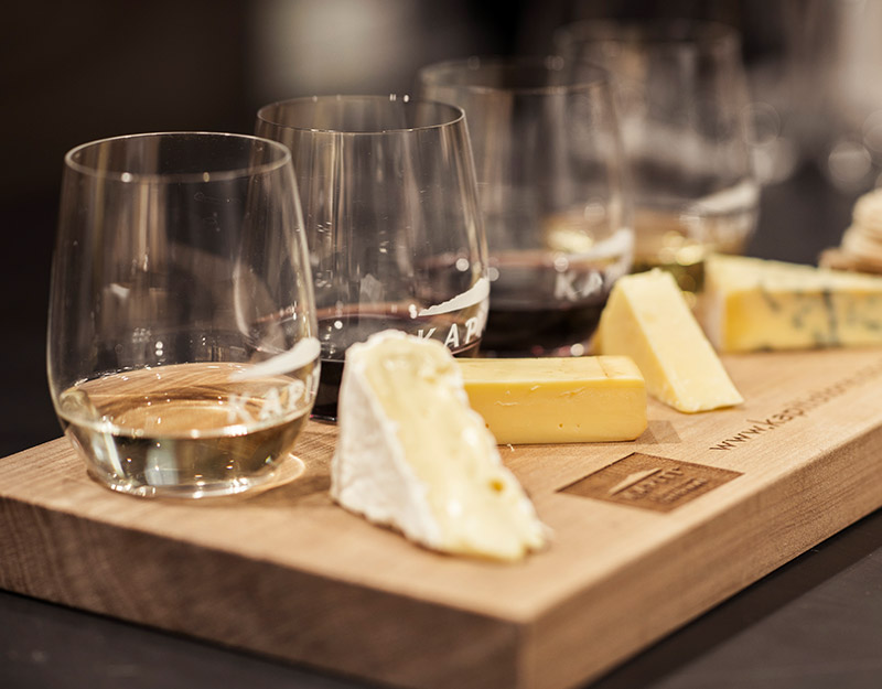 Kapiti cheese matched with award winning wines