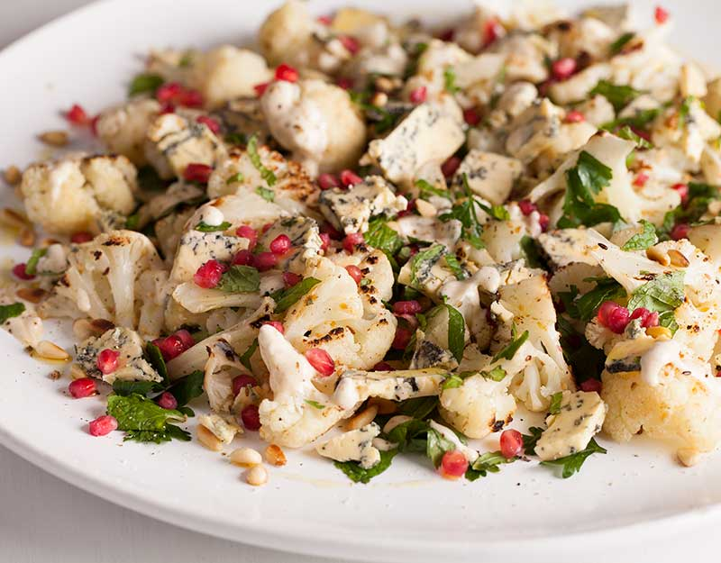 Kikorangi, Cauliflower & Pomegranate Salad