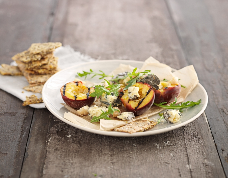 Grilled Peach & Blue Cheese Salad