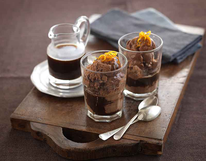 Triple Chocolate and Orange Affogato