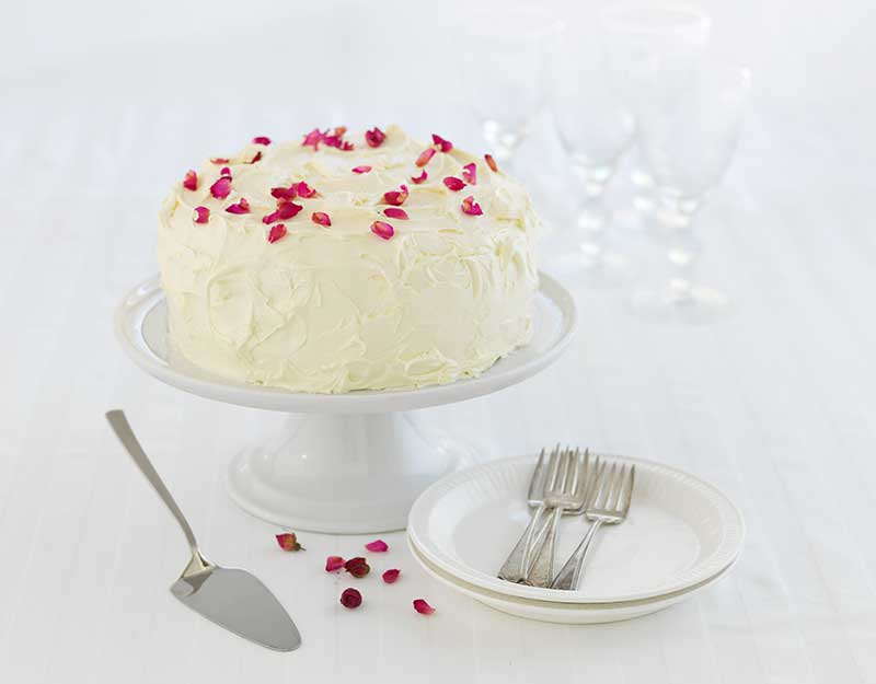 Red Velvet, Raspberry & White Chocolate Ice Cream Cake